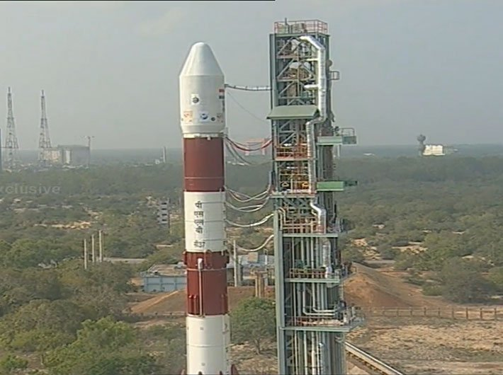Screengrab of PSLV-C37 launching 104 satellites