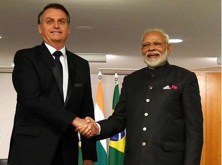 Prime minister Narendra Modi with Brazilian president Jair Bolsonaro (File photo)