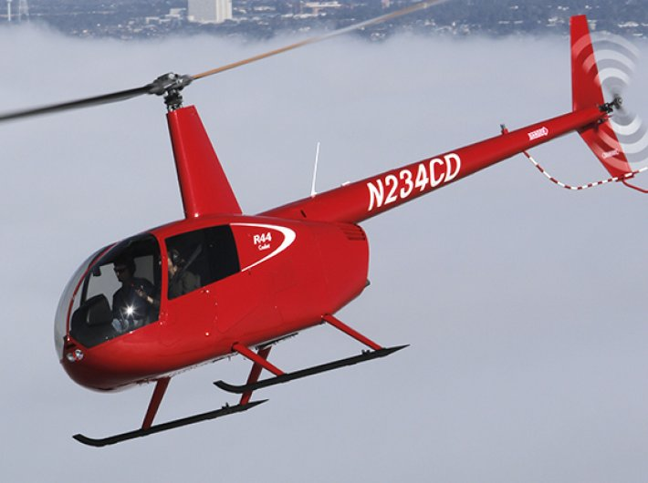 Four-seater Robinson R-44 helicopter