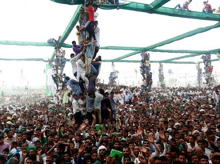 At a rally in Jind on September 25, where Om Prakash Chautala addressed a crowd of more than a lakh