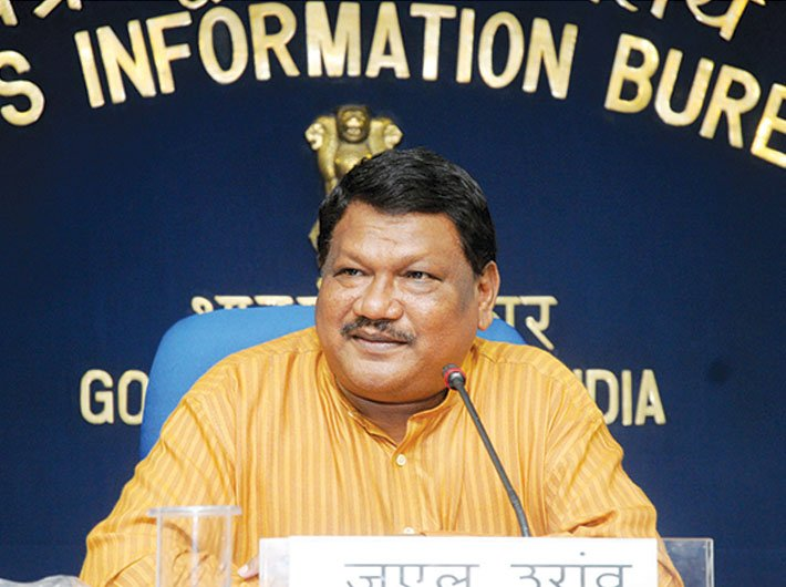 Jual Oram, union minister for tribal affairs