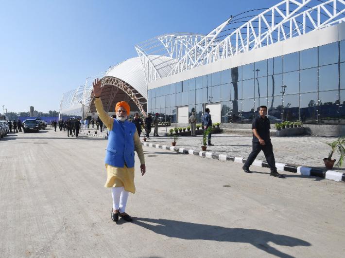 Prime minister Narendra Modi after inaugurating the Kartarpur Sahib corridor (Photo: @narendramodi)
