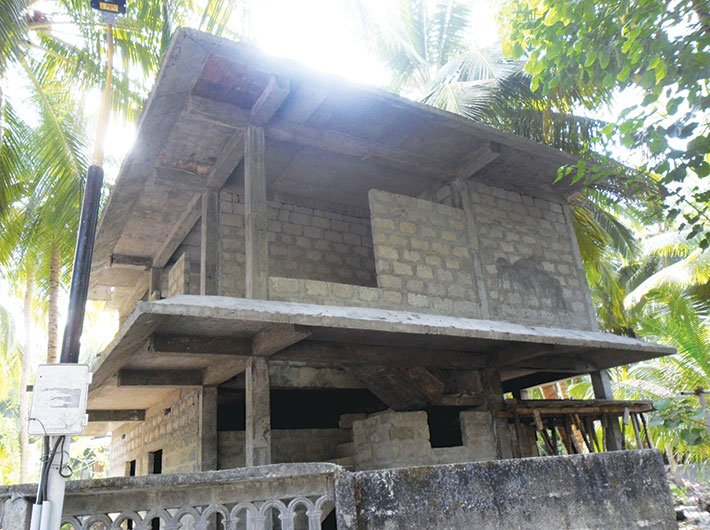 A house under construction in Kavaratti islands, Lakshadweep.