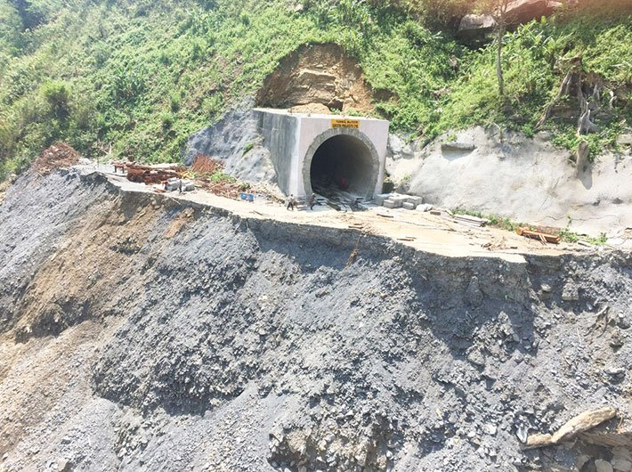 Landslide on Imphal line, April 2016