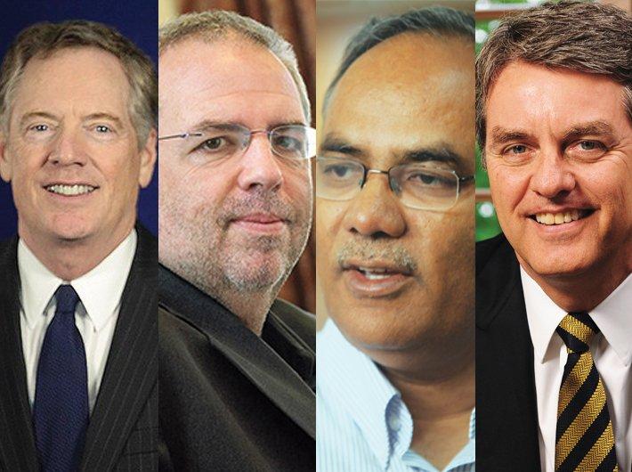 (L-R)  Robert Lighthizer, Rob Howse, Harsha Vardhana Singh and Robert Azevêdo