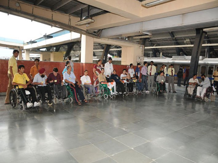 The right approach: Few establishments are as disabled-friendly as Delhi Metro even today.