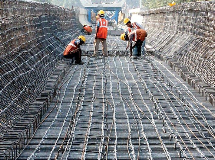 Lucknow Metro work under progress (Photo courtesy: www.lmrcl.com