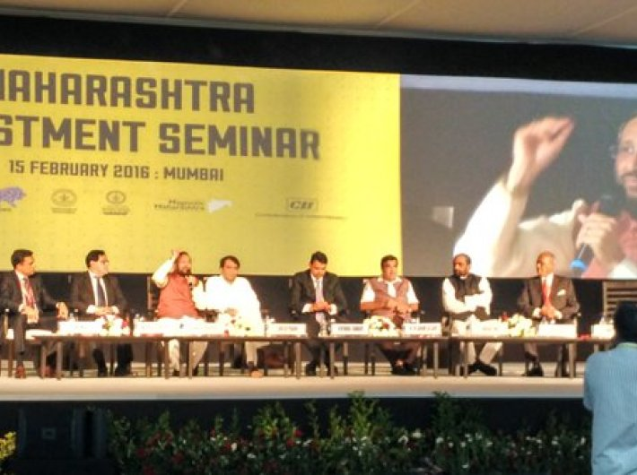 Maharashtra government conducting its investment seminar at the Make in India event