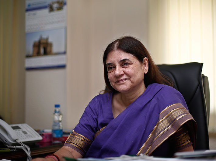 Maneka urges to remove father's name for single-mother's children's passport