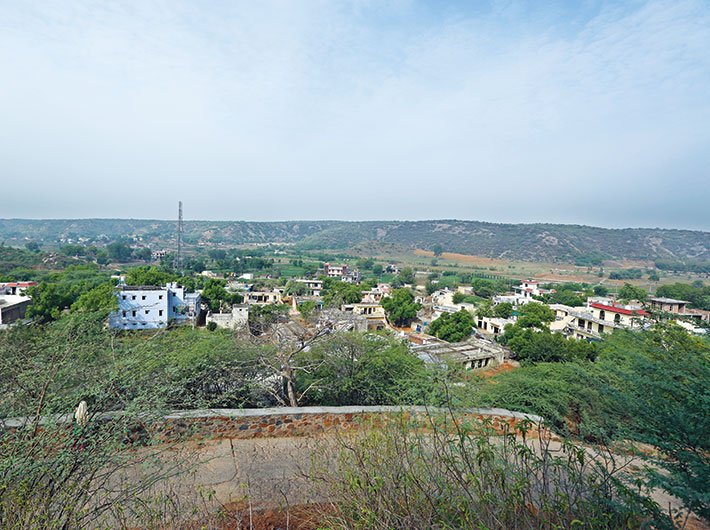 Mangar village nestled in the Aravalis in Hayana's Faridabad district