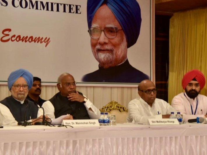 Former prime minister Manmohan Singh in Mumbai on Thursday
