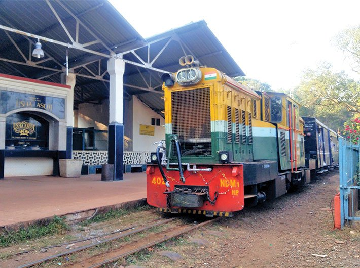 The toy train in Matheran, once a proposed UNESCO heritage item, now runs for a little more than a kilometre. Revival of the service is stymied. (Photo: Gajanan Khergamker)