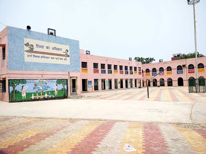 The Sarvodaya Co-Ed Senior Secondary School at Sultanpuri in northwest Delhi is among the outliers (Photo: Pranita Kulkarni)