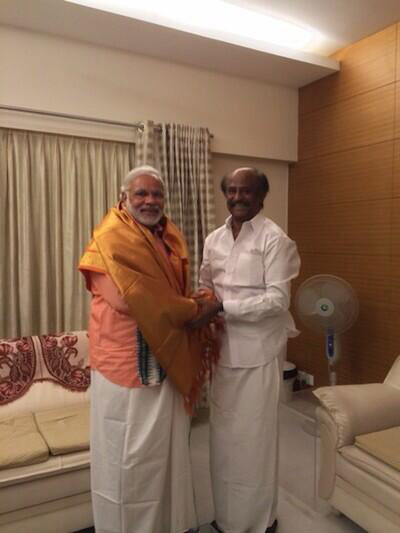 Narendra Modi`s tweet after meeting superstar Rajinikanth at the latter`s Chennai home on April 13