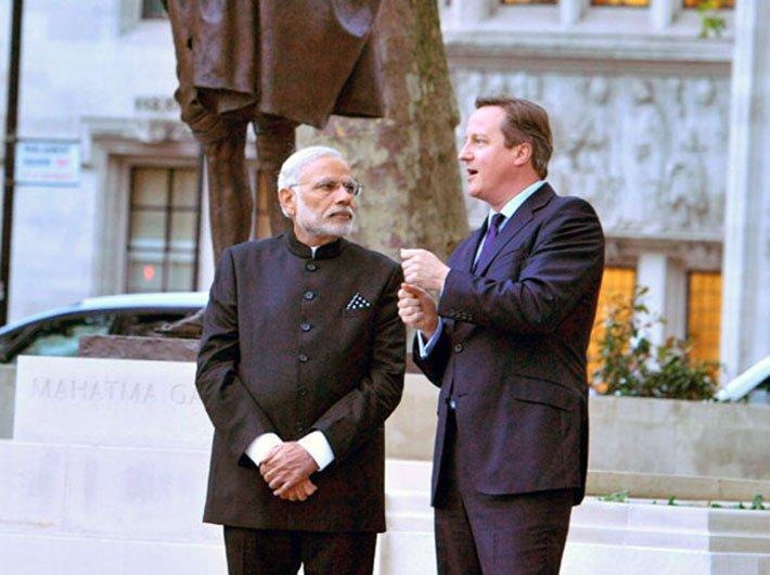 PM Narendra Modi with PM of UK David Cameron in 2015