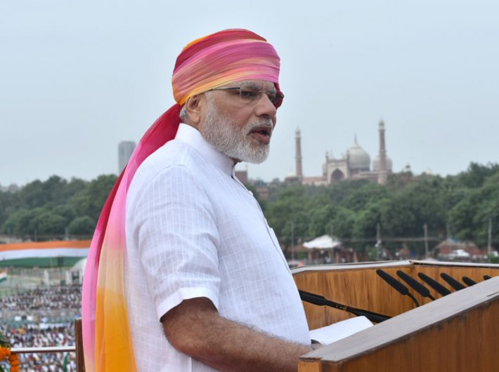 PM Narendra Modi delivering his Independence Day address from the Red Fort