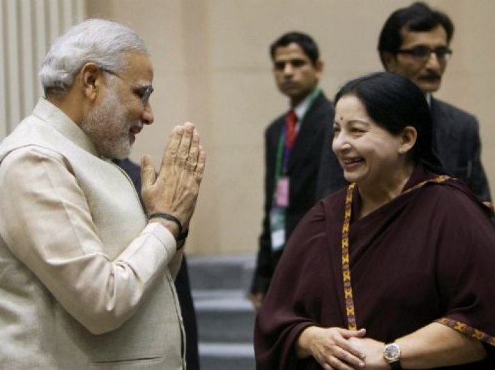 Narendra Modi and J Jayalalithaa: Can BJP use space vacated by the former Tamil Nadu CM`s absence to its advantage in the southern state?