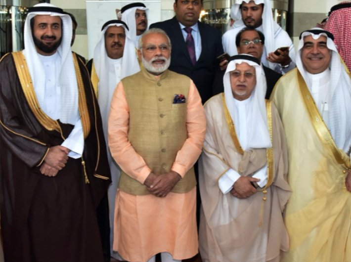 Prime minister Narendra Modi meets business leaders in Saudi Arabia