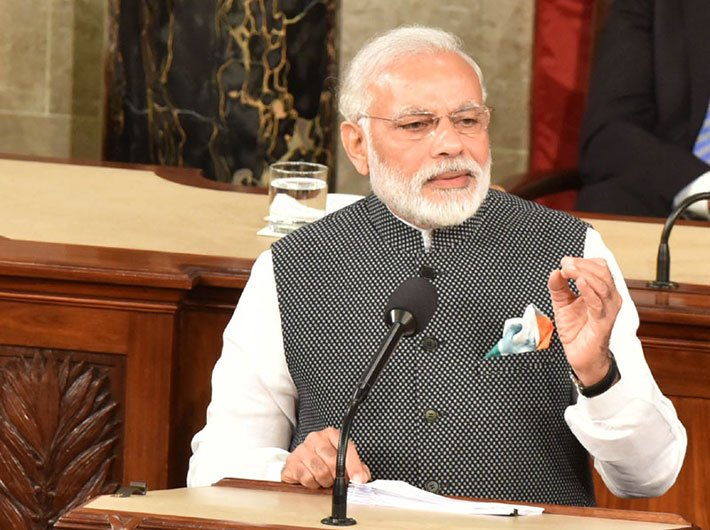 PM Narendra Modi addressing the joint session of US Congress, in Washington DC on June 08