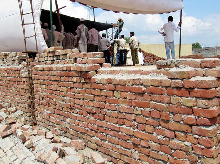 At Kadalpur, the mosque wall in contention: While villagers claim SDM Durga Shakti Nagpal demolished the wall, the district magistrate has said in his report that some villagers razed it.