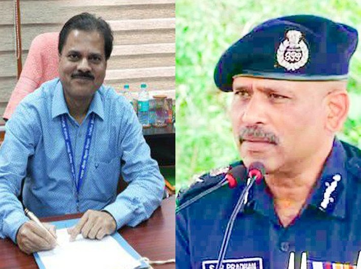 IMD DG Mrityunjay Mohapatra and NDRF DG S N Pradhan