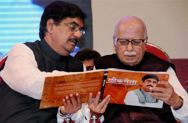Gopinath Munde (here with LK Advani) last year committed a gaffe when he said in public that the limit was too low and he had to spend something like Rs 8 crore on his election in 2009 – but his affidavit puts the figure at only Rs 19.32 lakh, which is less than half the then limit