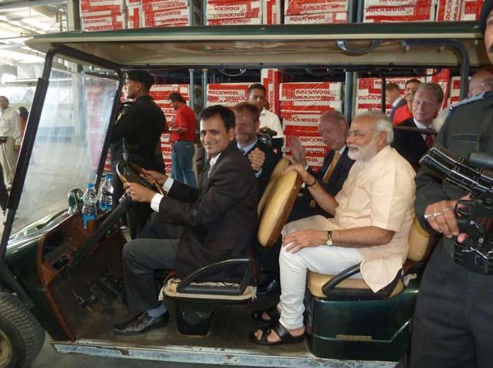 Sunil Bhatt, with Narendra Modi