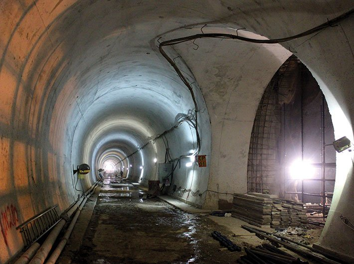 Work in progress at Chennai-Nashri tunnel