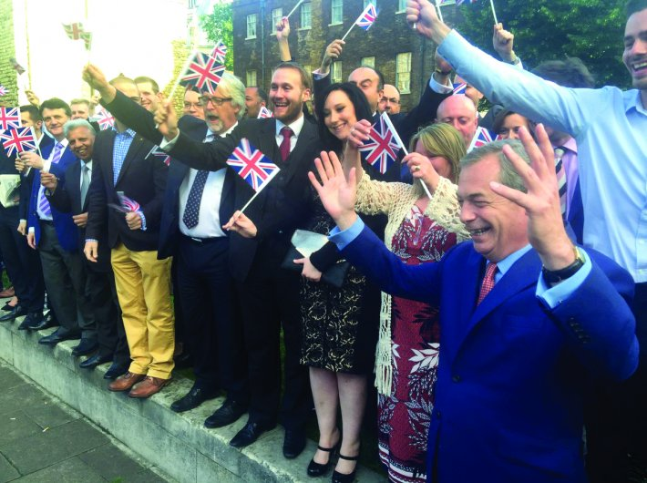 UK Independence Party leader Nigel Farage tweeted this picture after the referendum results