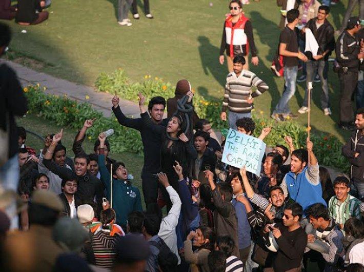 Protests after Delhi gang rape in December 2012