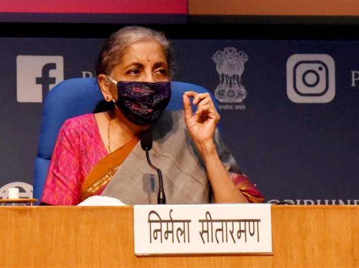 Finance minister Nirmala Sitharaman announces the new stimulus package on Monday