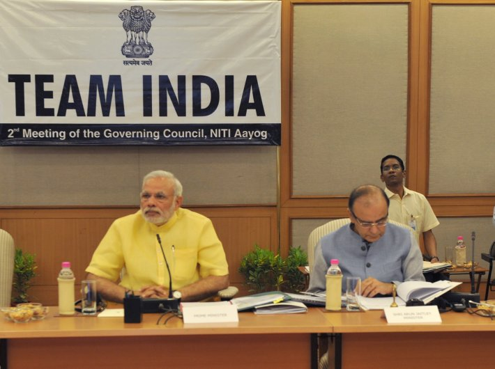PM Modi chairing the second meeting of the governing council of the Niti Aayog