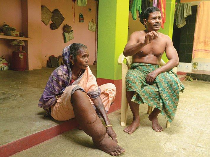 Kointa Swain with her son Pramod Kumar Swain