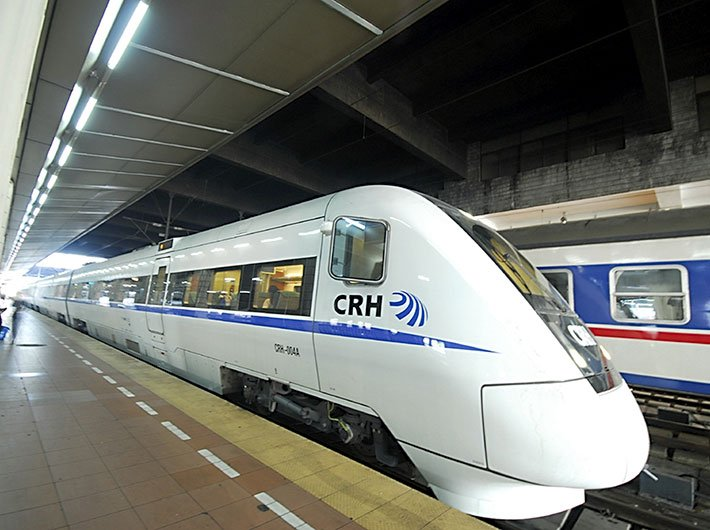 China's CRH1 clocks between 220 and 250 kmph.