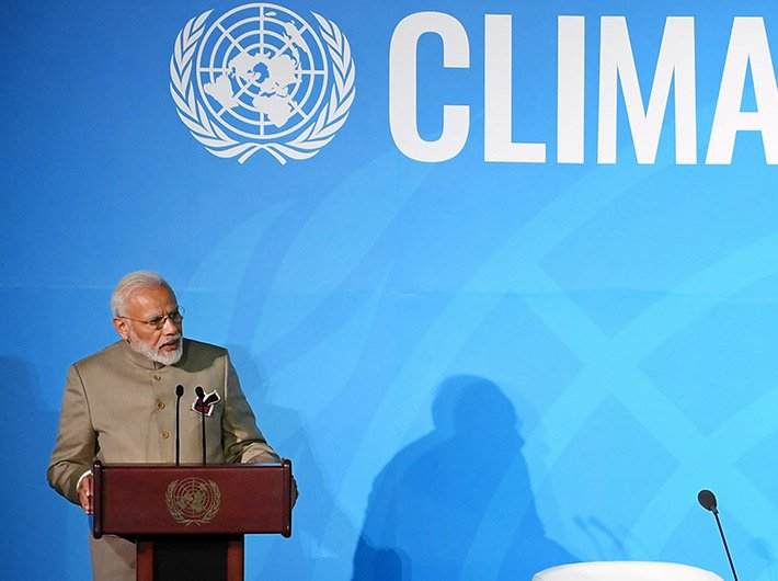 PM Narendra Modi addresses Climate Action Summit 2019 on Monday