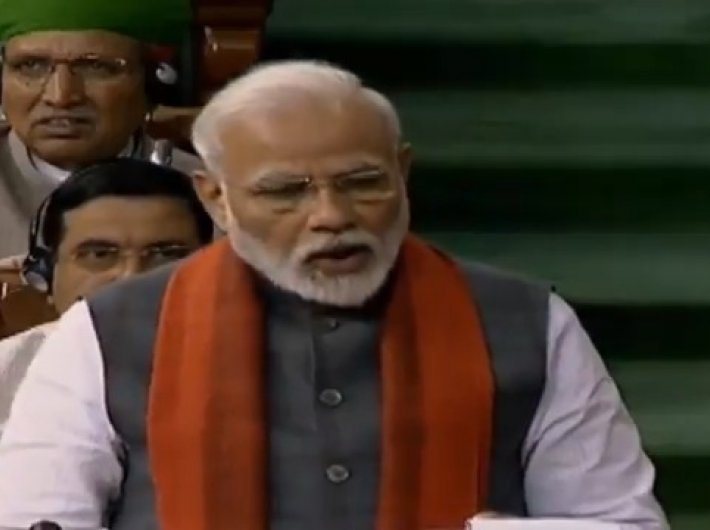 PM Narendra Modi making the announcement in the Lok Sabha on Wednesday.