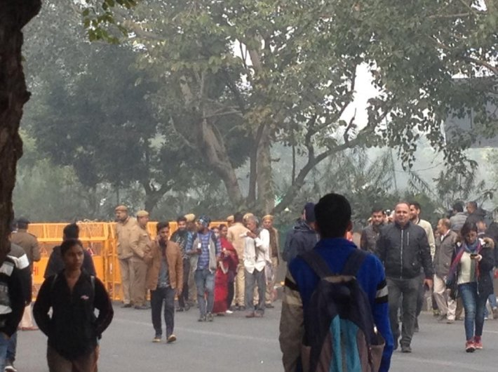 Delhi police clamped down prohibitory orders against protest demonstration on Thursday (GN Photo)