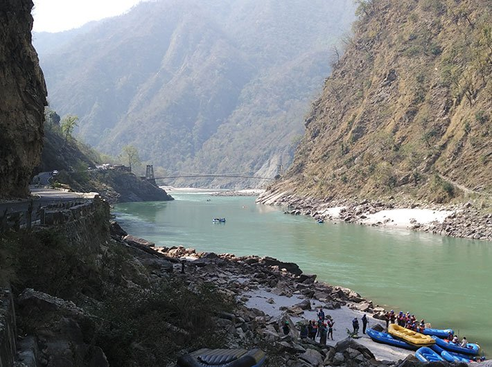 View of river Ganga from Shivpuri, Rishikesh