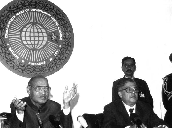 The author with former prime minister PV Narasimha Rao