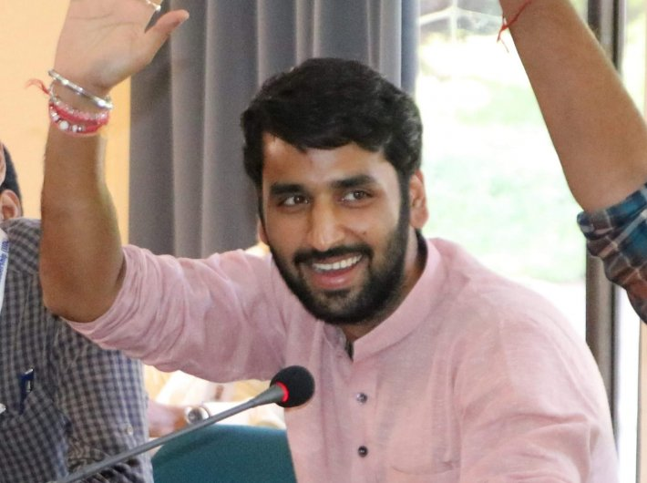 Rohan Mahajan, a student of the third batch who is now on a fellowship working with BJP national general secretary Tarun Chugh.
