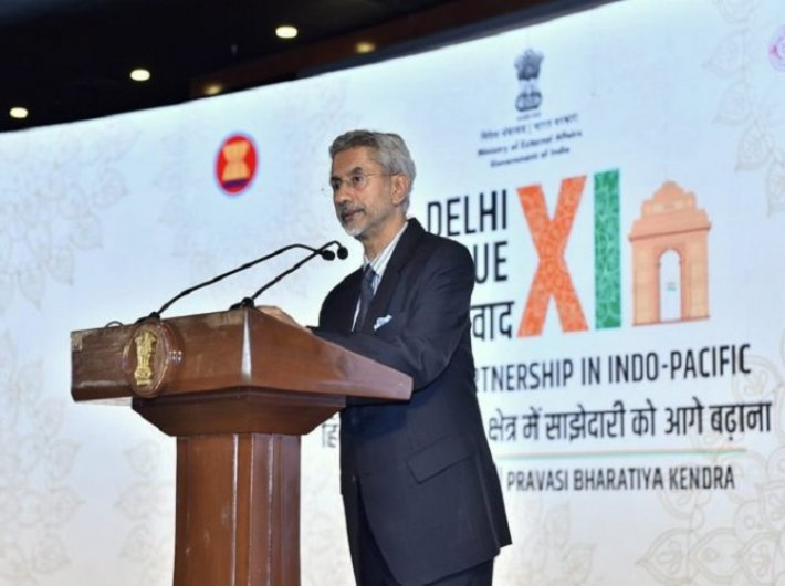 External affairs minister Dr S Jaishankar addresses Delhi Dialogue (Photo courtesy: @DrSJaishankar)