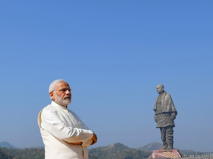 PM Narendra Modi inaugurating Statue of Unity in Kevadia, Gujarat (Photo: Twitter/BJP4India)