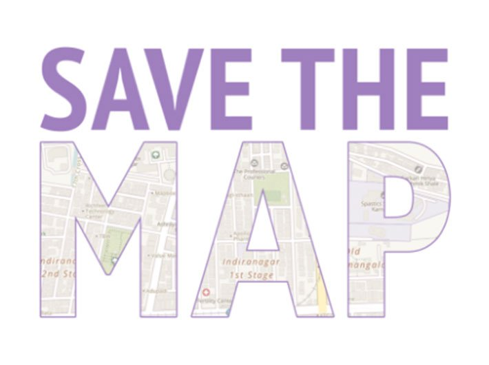 Screenshot of savethemap website