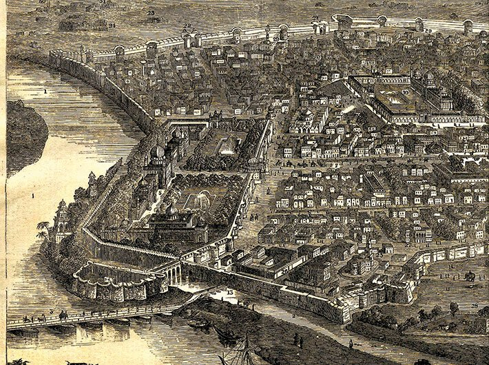 The City of Delhi Before the Siege, from The Illustrated London News, January 16, 1858