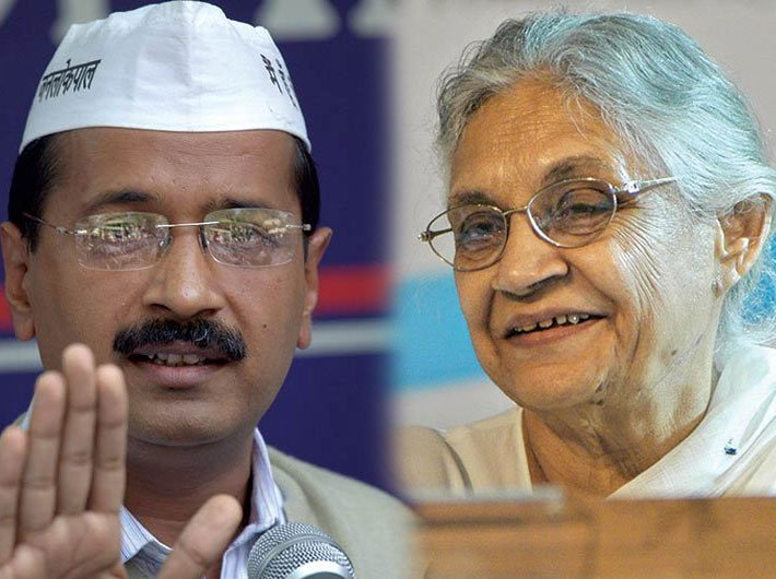 File photo of Arvind Kejriwal and Sheila Dikshit
