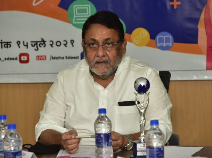 Minister of state for skill development, employment and entrepreneurship Nawab Malik launching the online admission process on Thursday.
