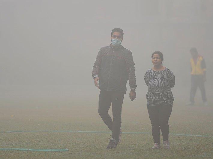 Smog hit Delhi. Representational image