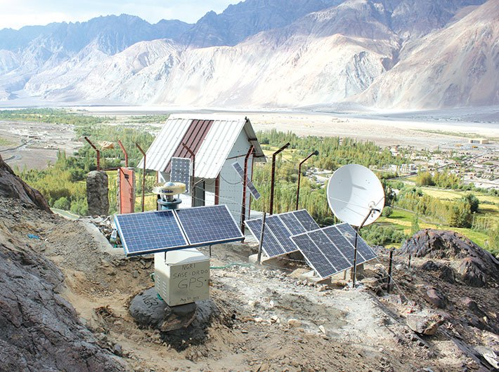 GPS and seismological observatory at Partapur in Ladakh region