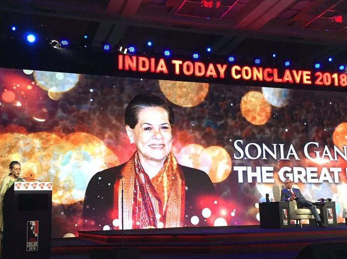 Full speech of Sonia Gandhi at India Today Conclave 2018