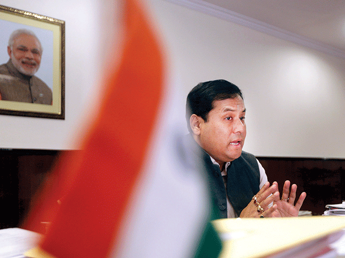 Sarbananda Sonowal, minister of state for youth affairs and sports